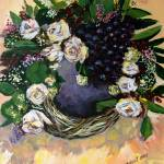 """Flower and Grapes"" by cneartgallery"