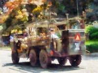Army Vehicle In Parade
