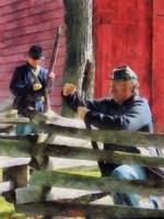 Union Soldier Loading Rifle