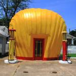"""Winston-Salem, NC - Shell Shaped Gas Station"" by Ffooter"