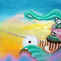 Sea Sky Art Prints & Posters by Laura Barbosa