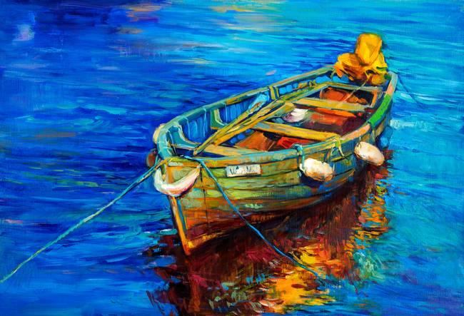 парусные лодки у художников