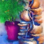 """Garden Fountain"" by Kirtdtisdale"