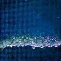 Blue Rain Square Art Prints & Posters by Karen Adams