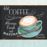 """retro coffee 1 16x16"" by DebbieDeWitt"