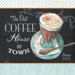 """retro coffee 2 16x16"" by DebbieDeWitt"