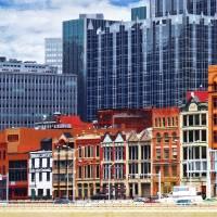 Pittsburgh PA Skyline Closeup Art Prints & Posters by Susan Savad
