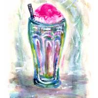Ice Cream Soda! Art Prints & Posters by Diana Delosh