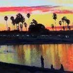 Mission Bay San Diego Sunset by RD Riccoboni