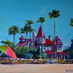 """Victorian Mansion Coronado California"" by BeaconArtWorksCorporation"
