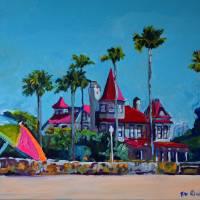 Victorian Mansion Coronado California Art Prints & Posters by RD Riccoboni