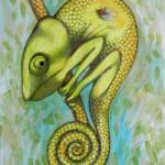 """green chameleon"" by federicocortese"