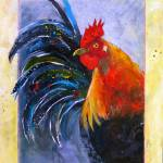 """Calico Rooster"" by loragarcelon"