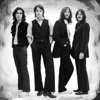 The Beatles Painting Late 1960s Early 1970s Black