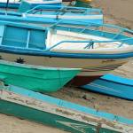 """Old Fishing Boats on the Beach"" by rhamm"