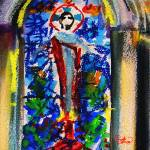 """Abstract Christ Jesus Painting"" by GinetteCallaway"