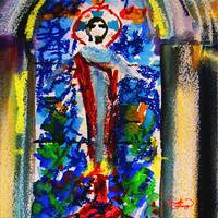 Abstract Christ Jesus Painting