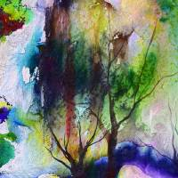 Bear and Trees Lanscape Art Prints & Posters by Ginette Callaway