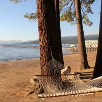 Relaxing in Lake Tahoe Art Prints & Posters by Pat Cook