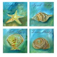 Dreamy Shells Set Art Prints & Posters by Caitlin Dundon