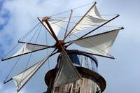 Cloth Sails on a Windmill