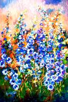 Delphiniums Impressionist Flowers