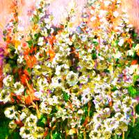 Light In The Garden Modern Floral Art Art Prints & Posters by Ginette Callaway