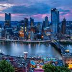 """Skyline Panorama of Pittsburgh viewed from Mount W"" by George_Oze"