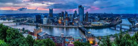 Skyline Panorama of Pittsburgh viewed from Mount W