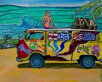 surf art/vw bus