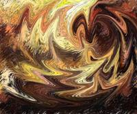 Terrestrial Brush Strokes Abstract