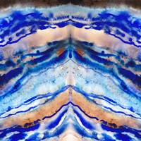 Abstract Blue Agate