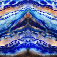 Blue Agate Organic Abstract