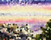 Abstract Landscape Purple Sunset