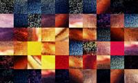Geometric Abstract Design Sunrise Squares
