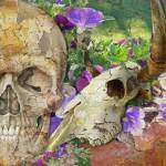 """Skulls and Flowers"" by ArtByRuta"