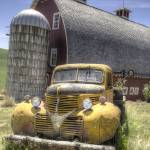 """Old Pickup and Barn"" by SederquistPhotography"