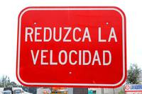 Reduce Your Speed Sign