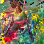 """Flower Girl/Colors Of The Bayou (series)"" by ninaspencer"