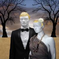 Desert Wedding Blond Groom