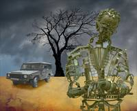 Military Robot and Tree