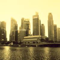 Urban Landscape Singapore 2014, monochrome Art Prints & Posters by Stamford Photography and Design