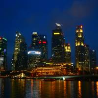 """Lion City Singapore  City by Night"" by Stamford Photography And Design"