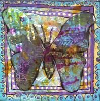 butterfly art | mixed media | Butterfly Magic