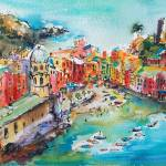 """Vernazza Dreams Italy Cinque Terre"" by GinetteCallaway"