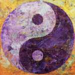 """Purple Yin Yang"" by creese"