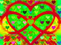 Infinity Love Heart Green
