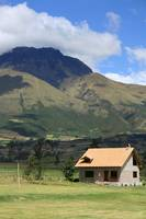 House and Mount Imbabura