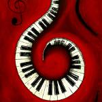 """Swirling Piano Keys-Music In Motion"" by waynecantrell"