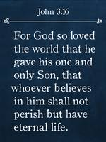 John 3:16- Bible Verse Wall Art Collection